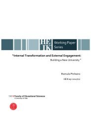 """Internal Transformation and External Engagement:"