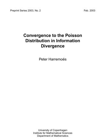 Convergence to the Poisson Distribution in Information Divergence