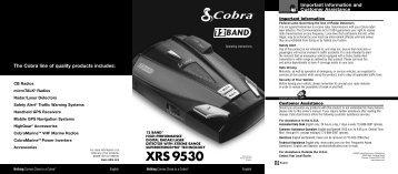 XRS 9530 - Cobra Electronics