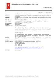 Centro Regional de Información y Documentación Juvenil (CRIDJ ...