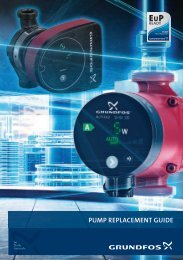 PUMP REPLACEMENT GUIDE - Grundfos