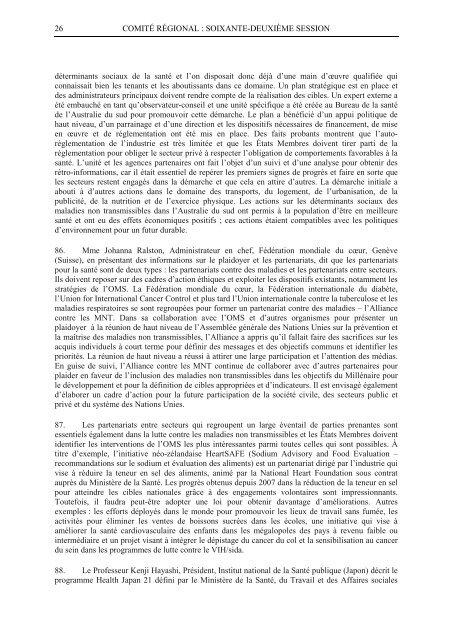 Rapport final - WHO Western Pacific Region