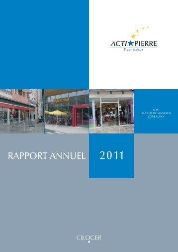 Rapport annuel 2011 - Ciloger
