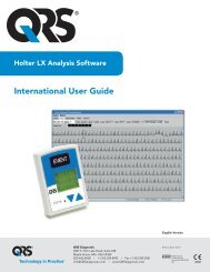 International User Guide - QRS Diagnostic