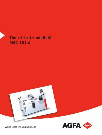 The »4-in-1« minilab! MSC 101.d - Aguila Graph Internacional