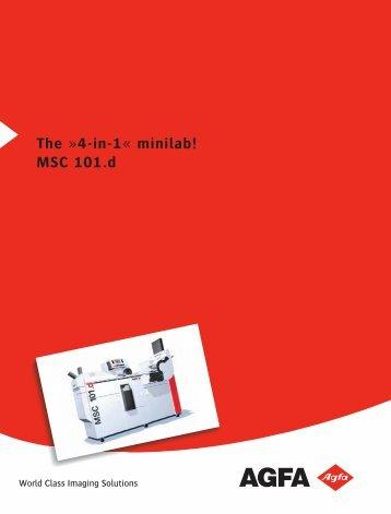 The »4-in-1« minilab! MSC 101.d - Aguila Graph Internacional