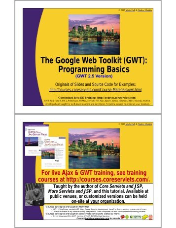(GWT): Programming Basics - Custom Training Courses ...