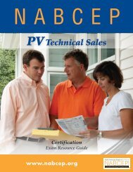 PV Technical Sales - nabcep