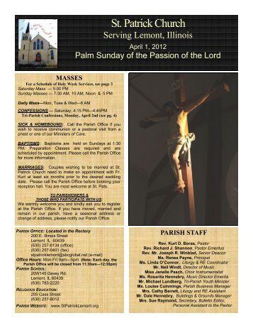 Masses - St. Patrick Church, Lemont