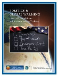 politics & global warming - Yale School of Forestry & Environmental ...