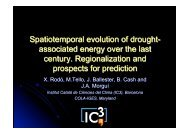 Spatiotemporal evolution of drought- associated energy over the last ...