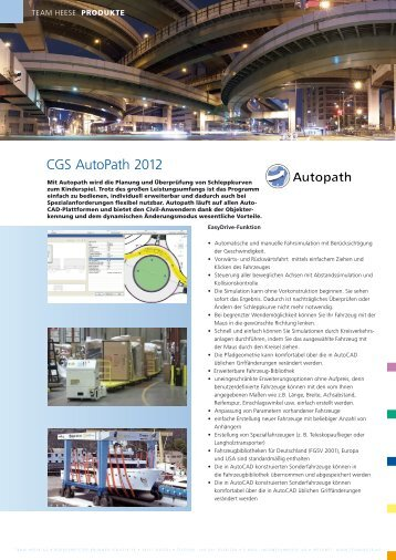 CGS AutoPath 2012 - Team Heese AG