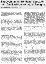 Extracomunitari residenti: detrazioni per i familiari ... - UILA Potenza