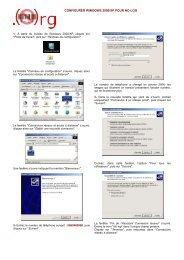 CONFIGURER WINDOWS 2000/XP POUR NO-LOG - Globenet