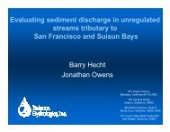 Evaluating sediment discharge in unregulated streams tributary to ...