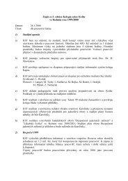 FVS - zapis 3.schuze 26.1.2000 - Fyzikalni sekce MFF UK