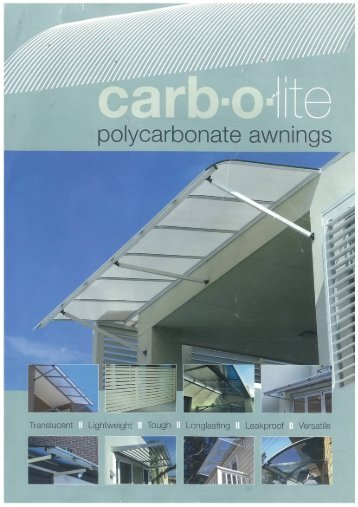 Page 1 Page 2 flat window awnings 3|-nm twin wall polycarbonate ...