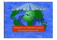 Willkommen zur Präsentation unseres Sensorkabel Systems LIST ...
