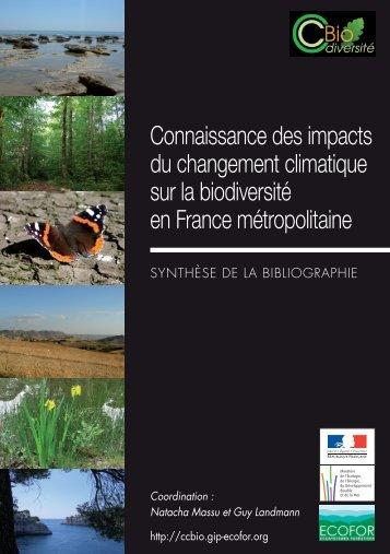 Connaissance des impacts du changement climatique ... - GIP-Ecofor