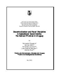 Decentralization and Fiscal Discipline in Subnational Governments ...