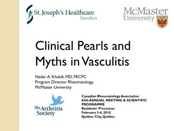 Clinical Pearls and Myths in Vasculitis