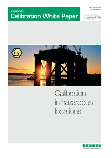 Calibration in hazardous locations 07 - Control System