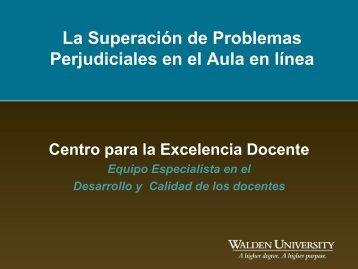 La Superación de Problemas Perjudiciales en el Aula ... - My Laureate