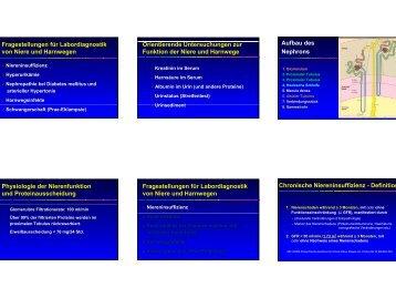 Fragestellungen für Labordiagnostik von Niere und Harnwegen ...