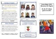 Informació Festa Major d'Hivern de Benavent de Segrià