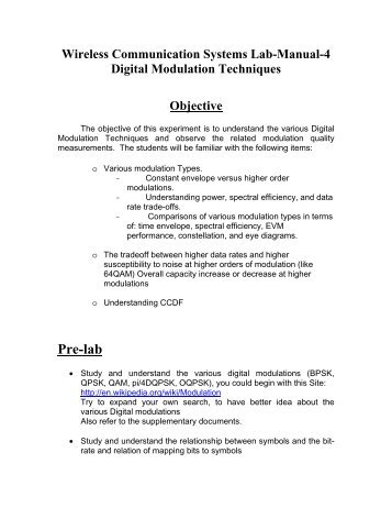 Vtu digital communication lab manual array pre lab wireless communications u0026 signal processing rh yumpu com fandeluxe Image collections