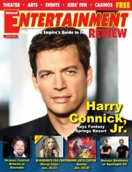 Harry Jr. Connick, - Inland Entertainment Review Magazine