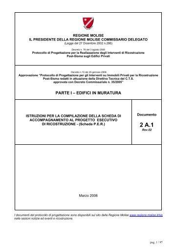 PARTE I – EDIFICI IN MURATURA - Regione Molise