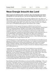 Neue Energie braucht das Land - Uwe Roth