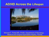 AD/HD Across the Lifespan - Florida Society of Neurology