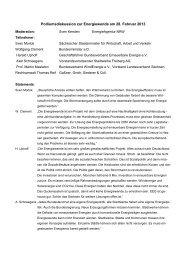 Podiumsdiskussion zur Energiewende am 28. Februar 2013