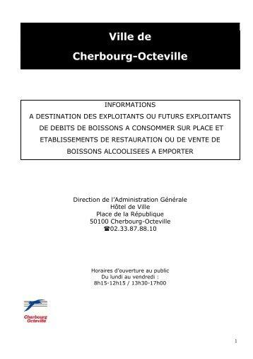 un guide d'information des débits de boissons - Cherbourg-Octeville