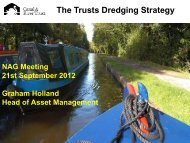 The Trusts Dredging Strategy - Canal & River Trust