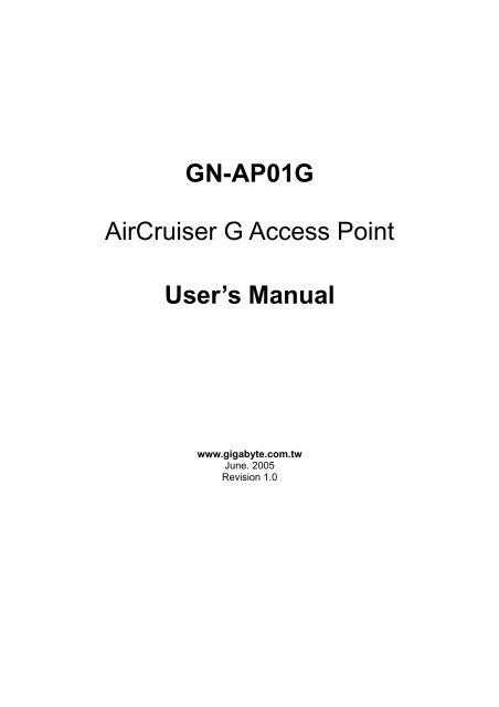 GIGABYTE GN-AP01G DRIVER FOR WINDOWS 7