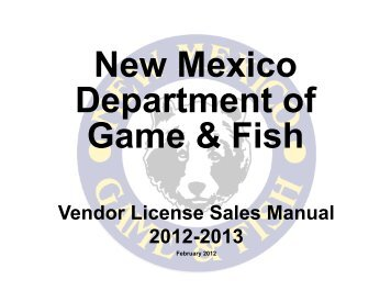 Nonresident licen for New mexico fishing license