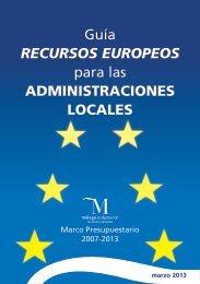 Guía Recursos Europeos para las Administraciones Locales