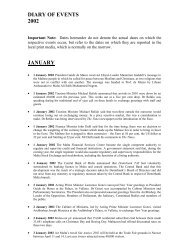 DIARY OF EVENTS 2002 JANUARY - Doi-archived.gov.mt