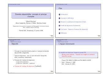 Données séquentielles - Statistique pour sciences sociales