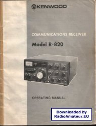 Kenwood - R-820 User manual - RadioManual.eu