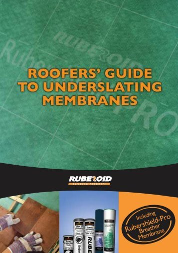 Roofers' Guide to Underslating Membranes - IKO