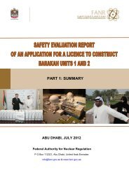 Safety Evaluation Report of Barakah Units 1 and