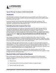 Speech Therapy Treatment Authorization Guide - e-Referral