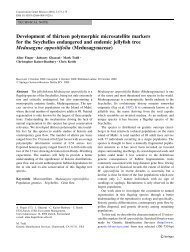Development of thirteen polymorphic microsatellite markers for the ...