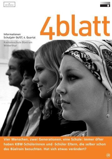 4blatt Nr. 28 - Kantonsschule Büelrain, Winterthur