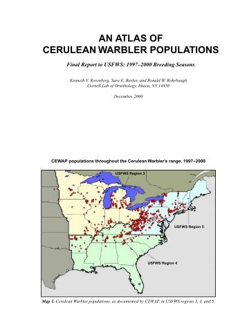 An Atlas of Cerulean Warbler Populations - Cornell Lab of Ornithology