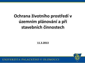 Ochrana životního prostředí v územním plánování a při stavebních ...